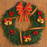 3d model wreath christmas