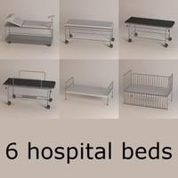 hospital beds 3d 3ds