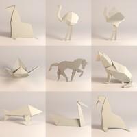 paper cat whale 3d 3ds