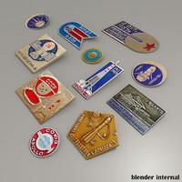 obj rare russian space pins