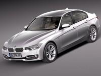 bmw f30 2013 sedan 3d model