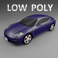 Car Low Polygon Porsche Panamera