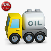 3d model construction icons 09 fuel truck