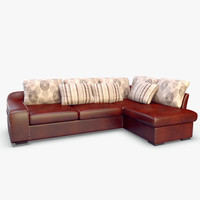 sofa realistic 3ds