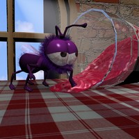 lightwave cartoon fly rigged