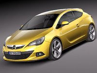opel astra gtc 2012 3d 3ds
