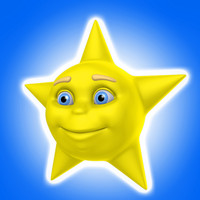 cool cartoon star 3d max