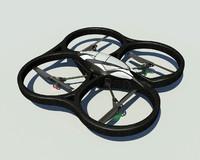 parrot ar drone 3d model