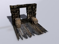 3ds max arrel wood wooden