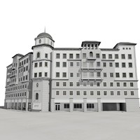 boca raton office building 3d max