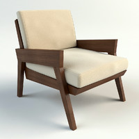 woody chair 3d max
