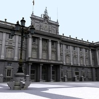 royal palace madrid 3d model