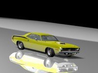 1970 plymouth cuda 3d model