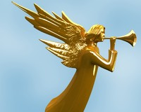 3ds angel statue