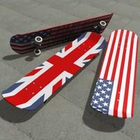 free skateboard coz111127 3d model