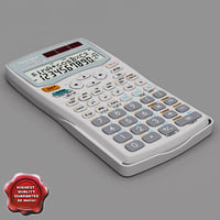 calculator sharp el-520w white max