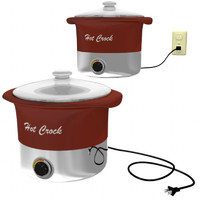 3d crock crockpot pot