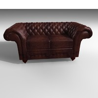 grosvenor 2 seater leather chair 3d model