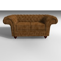 3d model grosvenor velvet chair