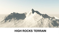 3d Terrain High Rocks
