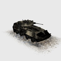 burned lav25 3d model