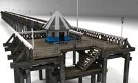 3d wooden pier model