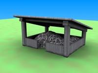 3d village pile roof