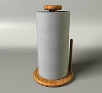 3d model kitchen paper towel roll