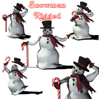 3d happy holidays snowman