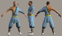 3d model martial arts fighter