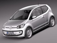 3d model of volkswagen up! city car