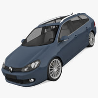 volkswagen golf 2010 3d model