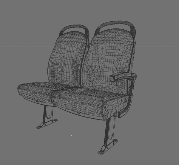 3d passenger bus - Bus Passenger Seat Version 4... by Antonio Zamburru