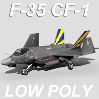 US Navy F-35 CF-1 Lightning II Low Polygon Version