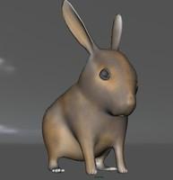 cute bunny 3d obj
