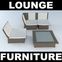 3d woven furniture model