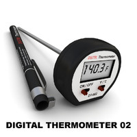 digital cooking thermometer 3d model