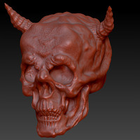 demon skull ztl 3ds