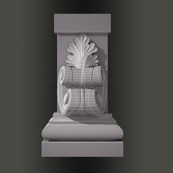 3ds max decorate classical - Molding e29 Pilaster... by Makhota