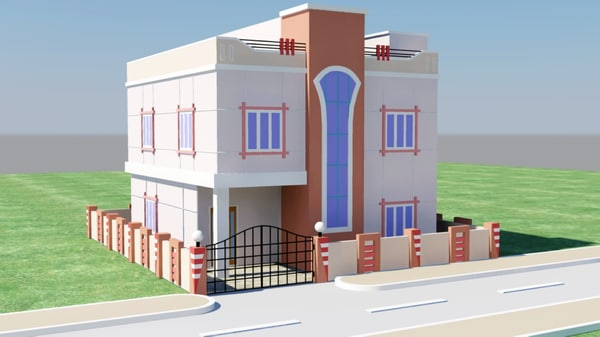 3D House Elevation