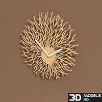 flowing clock 3d model