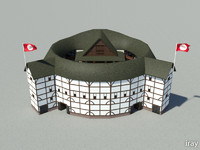 shakespeare globe theatre 3d model
