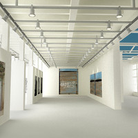 3d art gallery interior