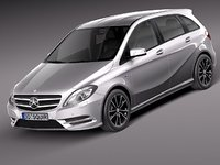 3d model mercedes mercedes-benz benz b class