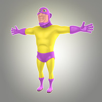 3d cool cartoon superhero