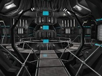 scifi interior 3d 3ds