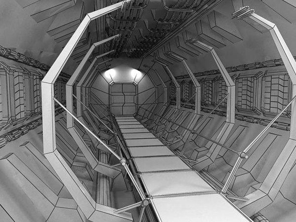 scifi interior 3d 3ds - Scifi interior... by AlekRazum