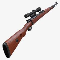 3d sniper karabiner 98k model