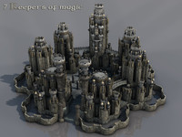 c4d magic fantasy castle