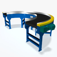 3d belt curve 180 deg model